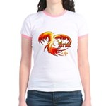 Phoenix Ringer T-Shirt/Mint, Salmon, Pink