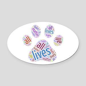 All Lives Matter Oval Car Magnet