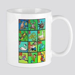 12 Days Of Xmas Large Mugs