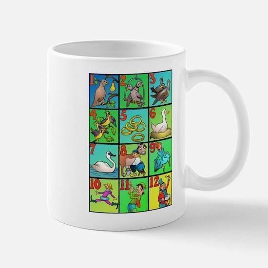 12 Days Of Xmas Large Mugs