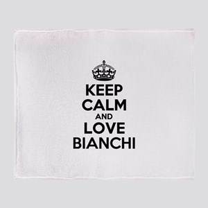 Keep Calm and Love BIANCHI Throw Blanket