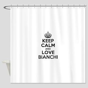 Keep Calm and Love BIANCHI Shower Curtain