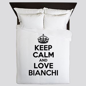 Keep Calm and Love BIANCHI Queen Duvet
