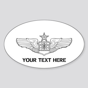 PERSONALIZED SENIOR NAVIGATOR WINGS Sticker (Oval)