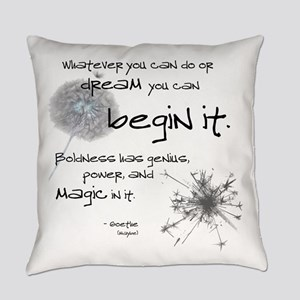 Begin It Everyday Pillow