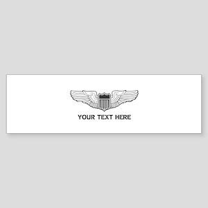 PERSONALIZED PILOT WINGS Sticker (Bumper)