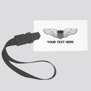 PERSONALIZED PILOT WINGS Large Luggage Tag