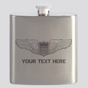 PERSONALIZED PILOT WINGS Flask