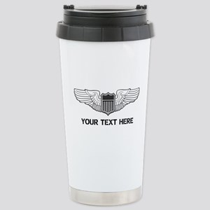 PERSONALIZED PILOT WING Stainless Steel Travel Mug