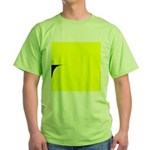 01.learnin to fly/ brite orangedge..? Green T-Shir