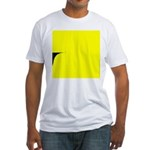 01.learnin to fly/ brite orangedge..? Fitted T-Shi