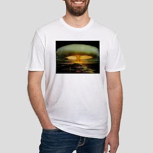 Mushroom Cloud Fitted T-Shirt