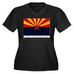 Wy BH&R02w Women's Plus Size V-Neck Dark T-Shirt