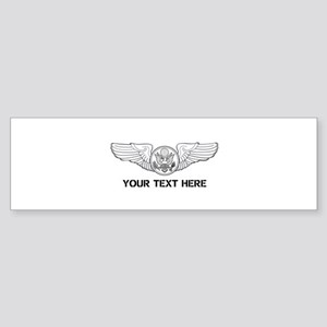 PERSONALIZED ENLISTED AIRCREW WIN Sticker (Bumper)