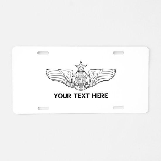 PERSONALIZED SENIOR ENLISTE Aluminum License Plate