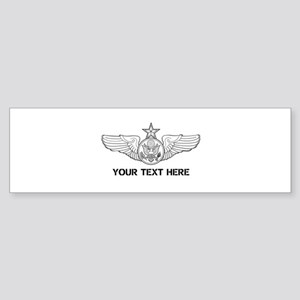 PERSONALIZED SENIOR ENLISTED AIRC Sticker (Bumper)