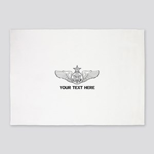 PERSONALIZED SENIOR ENLISTED AIRCRE 5'x7'Area Rug