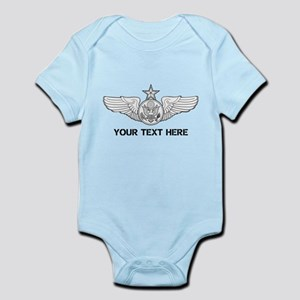 PERSONALIZED SENIOR ENLISTED AIRCR Infant Bodysuit