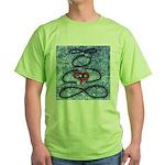 004.infinite being..? Green T-Shirt