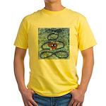 004.infinite being..? Yellow T-Shirt