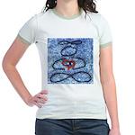 004.infinite being..? Jr. Ringer T-Shirt