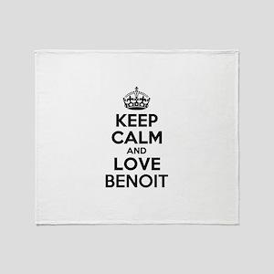 Keep Calm and Love BENOIT Throw Blanket