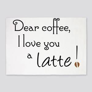 Coffee Love A Latte 5'x7'Area Rug