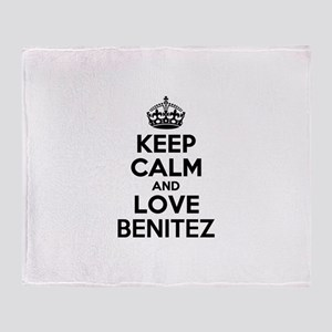 Keep Calm and Love BENITEZ Throw Blanket