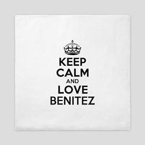 Keep Calm and Love BENITEZ Queen Duvet