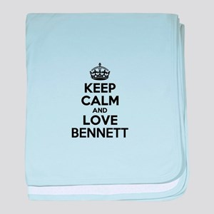Keep Calm and Love BENNETT baby blanket