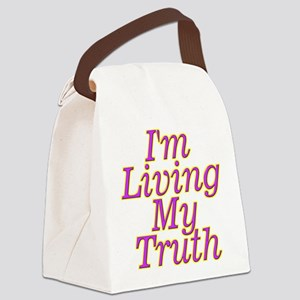 I'm Living My Truth Canvas Lunch Bag