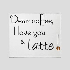 Coffee Love A Latte Throw Blanket