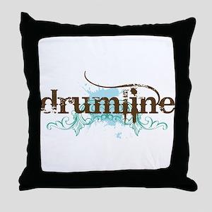Drumline grunge Throw Pillow