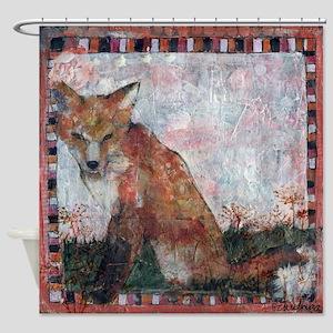 fox art   mixed media   Dandelion Wishes Shower Cu