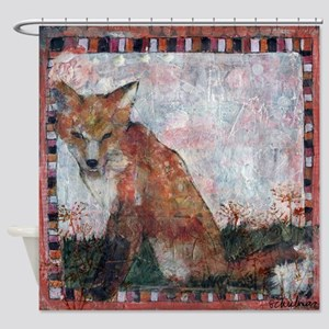 fox art | mixed media | Dandelion Wishes Shower Cu