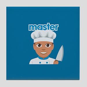 Emoji Master Chef Tile Coaster