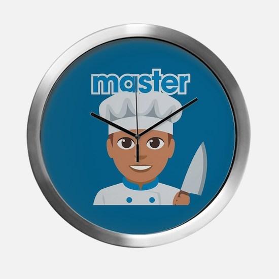 Emoji Master Chef Modern Wall Clock