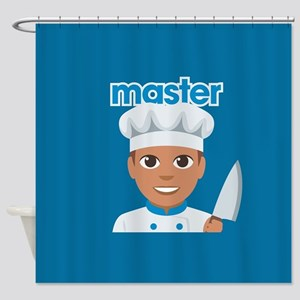 Emoji Master Chef Shower Curtain