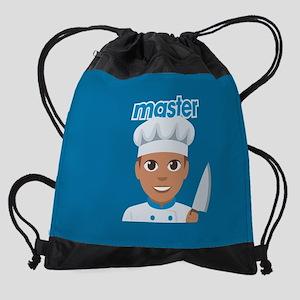 Emoji Master Chef Drawstring Bag