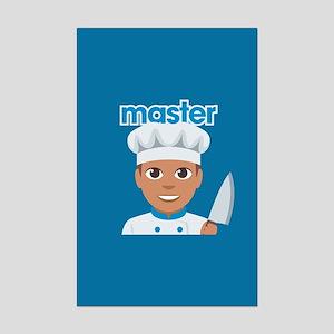 Emoji Master Chef Mini Poster Print