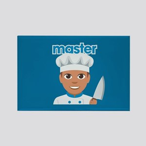 Emoji Master Chef Rectangle Magnet