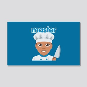Emoji Master Chef Car Magnet 20 x 12