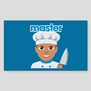 Emoji Master Chef Sticker (Rectangle)