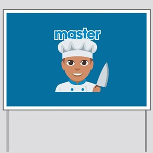 Emoji Master Chef Yard Sign