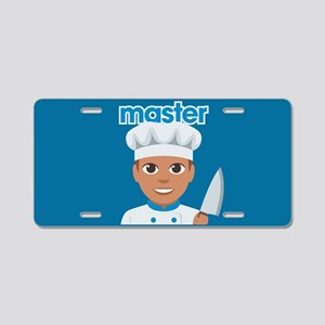 Emoji Master Chef Aluminum License Plate