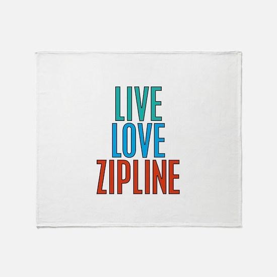 Live Love Zipline Throw Blanket