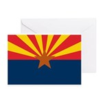 AZ Flag w/o title Greeting Cards (Pk of 20)