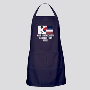 Half South Korean Is Better Than None Apron (dark)