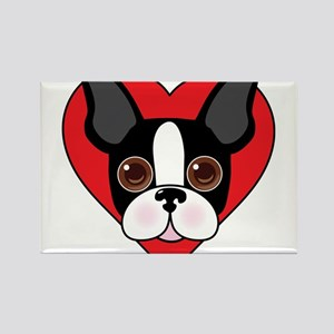 Boston Terrier Face Magnets