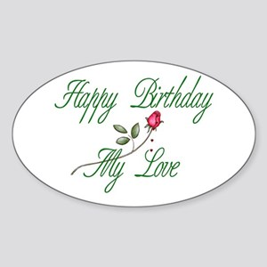 Lover Birthday Oval Sticker